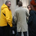 Annie Wersching with 24 director Brad Turner and Kiefer Sutherland