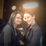 Annie Wersching and Mary Lynn Rajskub behind the scenes at CTU