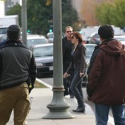 Annie Wersching and Kiefer Sutherland filming 24 Day 7 in Washington DC