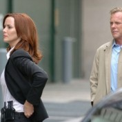 Annie Wersching and Kiefer Sutherland filming in Washington DC