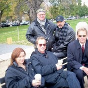 Annie Wersching with 24 cast and crew in Washington DC