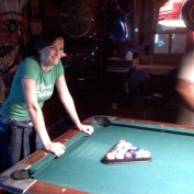 Annie Wersching plays pool after her first 24 action scene