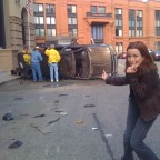 Annie Wersching behind the scenes 24 Season 7 car crash