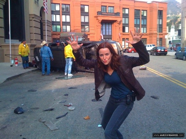 Annie Wersching by 24 car crash stunt