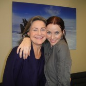Annie Wersching and Cherry Jones on 24 set
