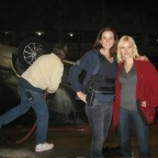 Annie Wersching and Elisha Cuthbert behind the scenes on 24