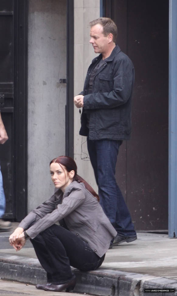 Annie Wersching filming 24 Season 8 Episode 15