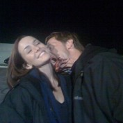 Annie Wersching and zombie Jeffrey Nordling on 24