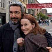 Annie Wersching with Jon Cassar on the 24 Season 7 Set