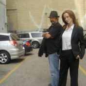 Annie Wersching and 24 director Jon Cassar