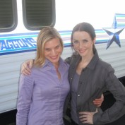 Annie Wersching and Katee Sackhoff behind the scenes
