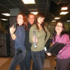 Annie Wersching, Kiefer Sutherland, Mary Lynn Rajskub on 24 set