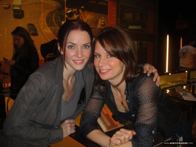 Annie Wersching and Mary Lynn Rajskub inside CTU