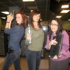 Annie Wersching, Mary Lynn Rajskub, Janeane Garofalo on FBI set
