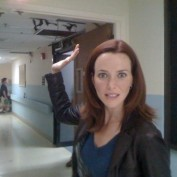 Annie Wersching Hospital Slap Behind the Scenes