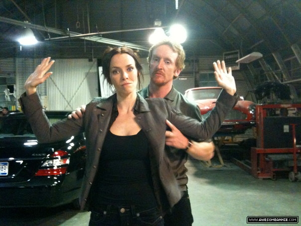 Annie Wersching and Tony Curran behind the scenes