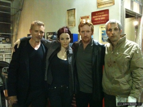 Annie Wersching with Callum Keith Rennie, Tony Curran, Jon Sklaroff 24 Season 8