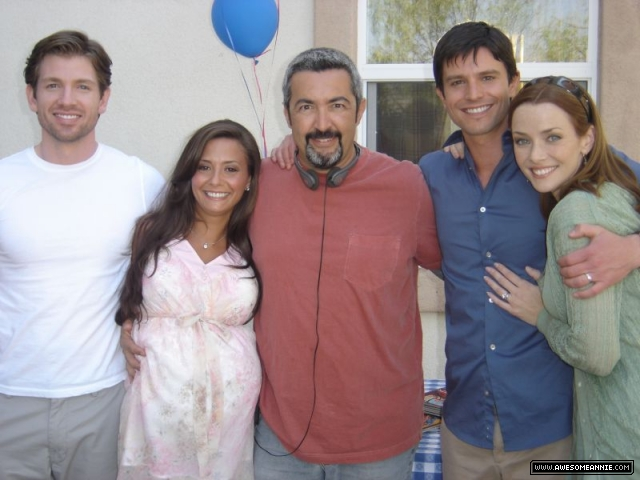 Annie Wersching with Company Man cast