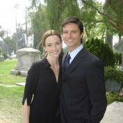 Annie Wersching with Jason Behr Company Man funeral set