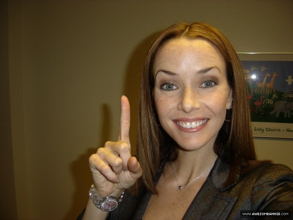Annie Wersching as Amelia Joffe first day of filming General Hospital