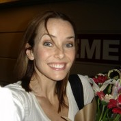 Annie Wersching during first day of General Hospital