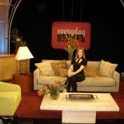 Annie Wersching on General Hospital's Everyday Heroes set