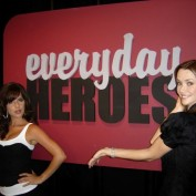 Annie Wersching and Kelly Monaco on set of General Hospital