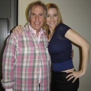 Annie Wersching with Henry Winkler