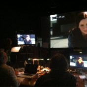 Annie Wersching does ADR on Partners at studio