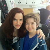 Annie Wersching and Garrett Ryan on Partners set