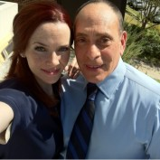 Annie Wersching and Nestor Serrano BTS on Partners set
