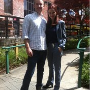 Annie Wersching poses with fan at King Plow Arts Center