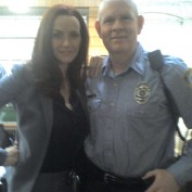 Annie Wersching with Scott Ledbetter on Partners set