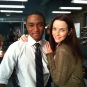 Annie Wersching and Lee Thompson Young on Rizzoli & Isles set