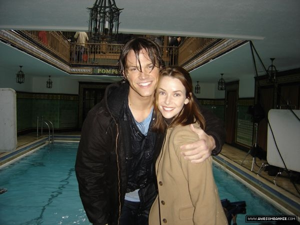 Annie Wersching and Jared Padalecki
