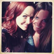 Annie Wersching and Marci MIchelle on set of Touch