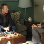 "TOUCH:  Martin (Kiefer Sutherland, L) meets with the daughter (guest star Annie Wersching, R) of a man that Jake led him to that is on death row in the ""Clockwork"" episode of TOUCH airing Friday, March 29 (9:00-10:00 PM ET/PT) on FOX.  ©2013 Fox Broadcasting Co.  Cr:  John P. Johnson/FOX"