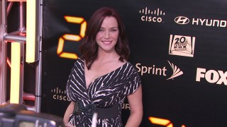 Pregnant Annie Wersching on 24 Series Finale Red Carpet