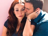Annie Wersching and Cameron Mathison in The Surrogate