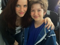 Annie Wersching and Garrett Ryan on Partners pilot set