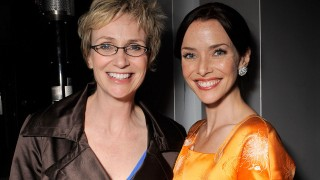 Annie Wersching and Jane Lynch at FOX Fall Eco Casino Party 2009
