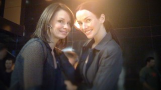Mary Lynn Rajskub and Annie Wersching on 24's CTU set