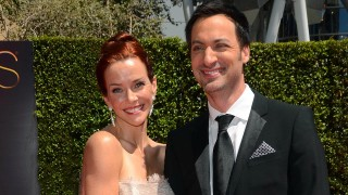 Annie Wersching and husband Stephen Full at 2014 Creative Arts Emmy Awards