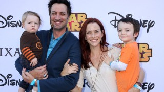 Annie Wersching and family at Disney VIP Halloween Event