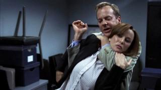 Jack Bauer chokes Renee Walker at FBI - 24 Season 7 Episode 3