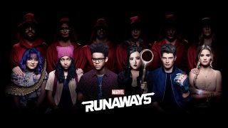 Marvel's Runaways logo key art