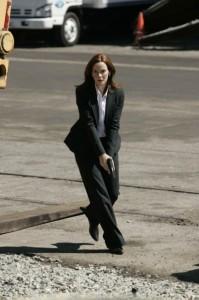 Renee Walker's Elie Tahari suit