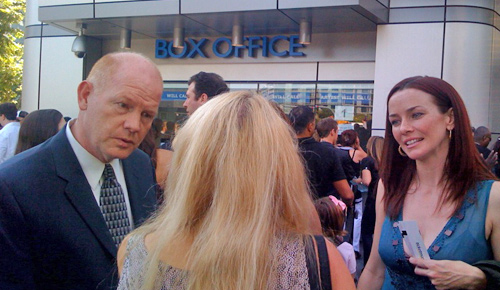 Annie Wersching and Glenn Morshower at American Idol 2009 Party