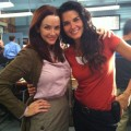 Annie Wersching and Angie Harmon on Rizzoli and Isles set