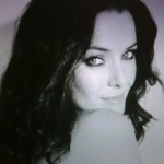 Annie Wersching portrait black white